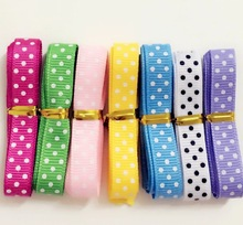 "3/8"" 7yards/lot (1 yards/color) grosgrain ribbon DIY Decorative arts and crafts"