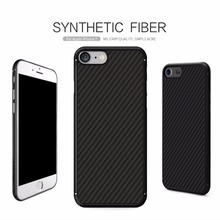 NILLKIN synthetic fiber back Cover for iphone 7 case military phone cases with iron sheet magnetic holder for iphone 7 plus