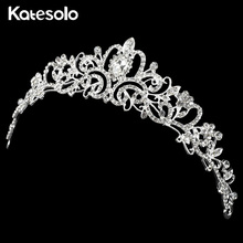 Buy 2017 Women Silver Color Princess Crown Headband Crystal Rhinestone Tiara Crowns Bridal Hair Accessories Wedding for $2.33 in AliExpress store