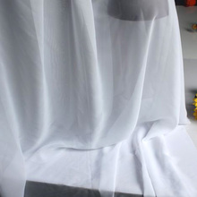 "White Chiffon Fabric Sheer Bridal Wedding Dress Lining Fabric Skirt 60"" Wide 5 Yards Per Lot Free Shipping"