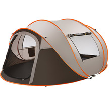 outdoor automatic tent camping tent set tent 5-8 One second fast to open Korea tnet one room orange tent