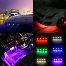 36W Multi-color RGB LED Rock Light Kit with Controller for Cars Truck 4x4 Jeep Off Road Neon Boat Deck Lamp Replacement(China)
