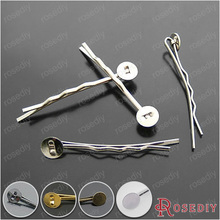 Buy  (17592-G)20PCS 42MM,Paste size:7-8MM Iron Hair Jewelry Hair clip Diy Handmade Jewelry Findings Accessories Wholesale for $1.15 in AliExpress store