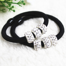 5Pcs Crystal Hair Rubber Bands Knot Headbands Scrunchy Girls Hair Ties Hair Accessories For Women Hairband Ring Gum Plaiting