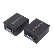 60M VGA to RJ45 Ethernet Signal Extender CAT5e/6 Transmitter Receiver Adapter for for HDTV HDPC PS3 STB