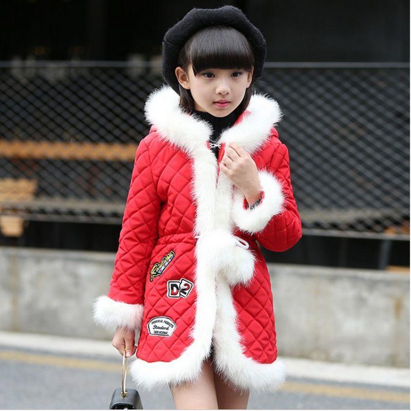 2017 New Fashion Girls Winter Coat Elegant Generous Children Cotton-Padded Clothes Thicken Slim Kids Clothes HL0806Одежда и ак�е��уары<br><br><br>Aliexpress