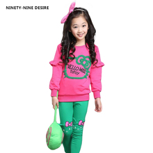 junior girls clothing sets candy color girl tracksuit cartoon hello kitty girls clothes sets baby clothing for girls