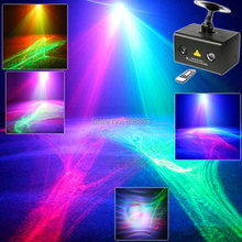 New R&G Laser Pattern Aurora Water Galaxy Sky Effect Full Color RGB LED DJ Home Party Disco Coffee Shop Xmas Bar Dance Light T34(China)