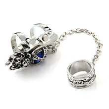 "Rhinestone Metal Armor EMO Punk Finger Ring 0.67-0.75"" HOT(China)"
