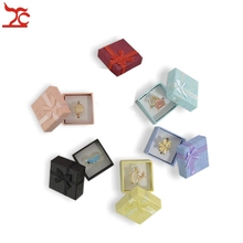 Free Shipping 48pcs/lot Jewelry Storage Paper Box Multi colors Ring Stud Earring Packaging Gift Box Ring Storage Box  4*4*3 cm