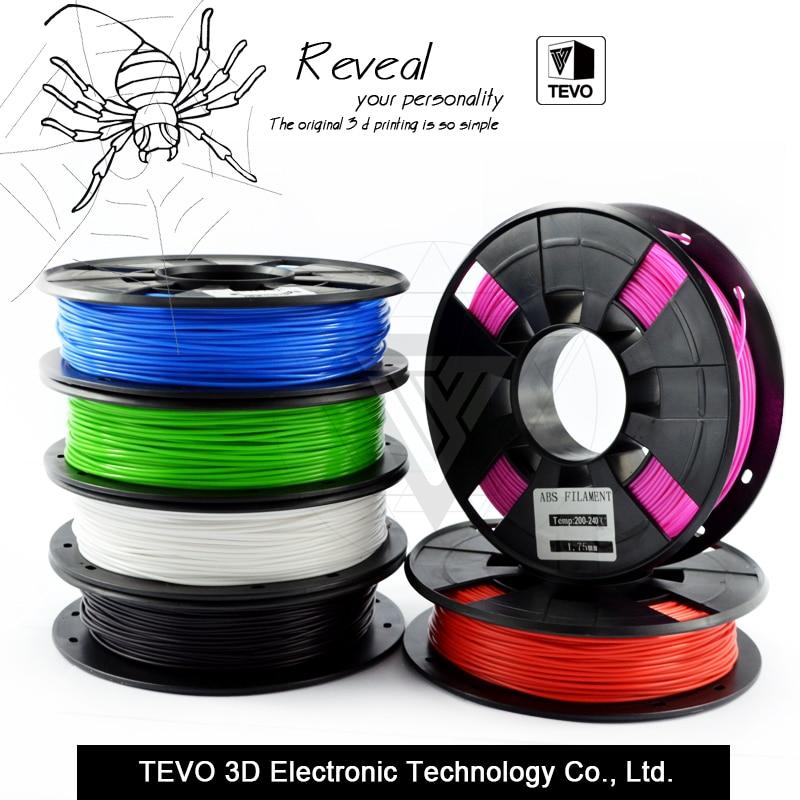 ABS Plastic 3D Printer 1kg 1.75MM Supplies Filament for RepRap  3D filament ABS filament 1.75  impressora 3D filamento<br><br>Aliexpress