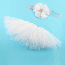 1 Set Girl Newborn Headband Bunny Tutu Skirt Matching Hairband Set Flower Hair Accessoires