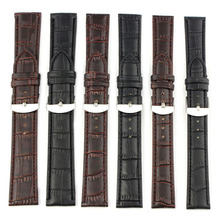 Scolour 18-22mm High Quality Soft Sweatband Leather Strap Steel Buckle Wrist Watch Band Freeshipping#77