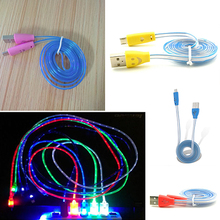 Light-Up LED USB Data Sync Charger Cable Charging Cord for Android Cell Phone
