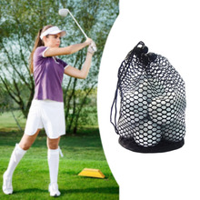 1 Pcs Black nylon net bag golf ball holding ball keep off training aid durable(China)