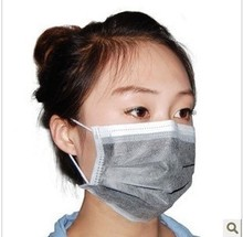 10PCs/Lot Non-woven disposable Bamboo charcoal filter paper Fuzz solid line dust masks sand riding masks face mask Z348-10PCs