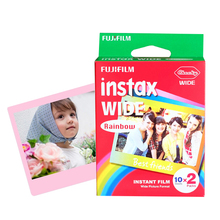 Brand New Fujifilm Instax Wide Film Rainbow Twin Packs (20 Photos) for Instant Photo Camera Instax 200 210