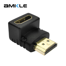 Amkle HDMI Male to HDMI Female Cable Adapter Converter Extender 90 Degrees Angle for 1080P HDTV PC Laptop HDMI Converter Adapter(China)