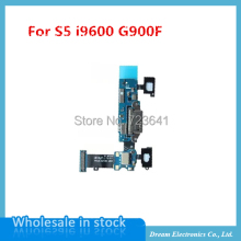 5pcs/lot New USB Charger Charging Port Dock Connector Flex Cable For Samsung Galaxy S5 i9600 G900F Replacement Parts