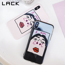 Buy LACK Cartoon illustration Phone Case iphone 6S Case iphone X 6 7 8 Plus Couples Cover Funny AM COOL Letter Print Cases for $1.83 in AliExpress store
