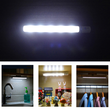 Motion Sensor Night Light Potable LED Closet Lights Wall Lamp Battery Powered Wireless Cabinet Leds Lamp With Magnetic Strip