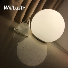 Modern Table Lamp round 14cm 25cm globe table lighting frosted milk white glass lampshade desk light Dioscuri parete soffitto