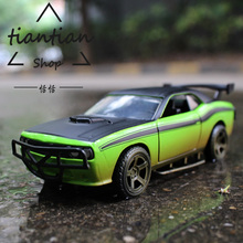 1:32 Alloy car model Fast & Furious Dodge Challenger SRT8 The door can be opened Children's car toys Give the gift to the child(China)