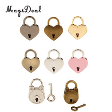 MagiDeal 3Pcs/Lot Vintage Mini Heart Shape Padlock with Keys Suitcase Lock Hens Stag Night Party Favors Gifts