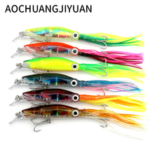 6 Color Fishing Lure Isca Crankbait Swimbait Bait 14cm 42g Fake Fish Lures With Hooks Fishing Tackle Tool squid(China)