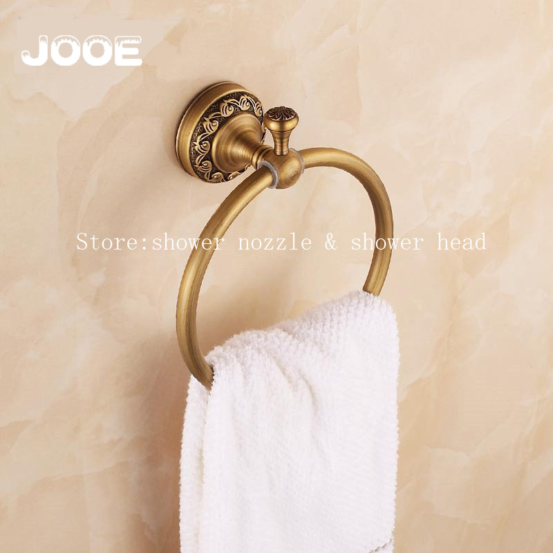 Jooe Wall mounted Towel Ring Bathroom Accessories Antique Bronze finishing Solid Brass Construction Bath Towel Rack<br>