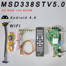 RAM 1G and 4G storage MSD338STV5.0 Intelligent Wireless Network TV Driver Board Universal Andrews LCD Motherboard+2Lamp Inverter
