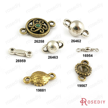 (16954)Copper or Alloy 2 holes Connect Charms 6MM 8MM Alloy Ball Beads Jewelry Accessories Findings Wholesale(China)