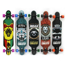 42inch Professional Skate Board Canadian Maple Longboard Skateboard Cruiser 4 Wheels Cruiser Street Deck Waveboard Balance Board(China)
