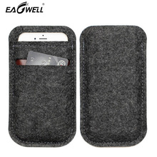 Universal Wool Felt Case For iPhone 7 7 Plus 4.7 inch 5.5 inch Phone Cases Cover Wallet Phone Bag Pouch For Samsung for Xiaomi