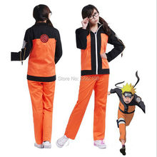 Hot Anime Uniform Outfit Naruto Cosplay Costume 2nd Uzumaki Naruto Costumes Free Shipping naruto cosplay Playing Clothes