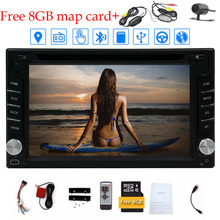 Wireless Rear Camera+6.2'' 2 Din Car DVD Player HD Digital TouchScreen Car Stereo GPS Navigation built-in Bluetooth Car Radio