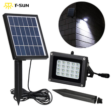 T-SUNRISE LED Flood Light with Solar Panel 10W Solar Spotlight Outdoor Lighting Waterproof IP65 LED Spotlights Garden Wall Lamp(China)