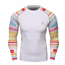 Buy Mens Compression Shirts Bodybuilding Skin Tight Long Sleeves Jerseys Clothings MMA Crossfit Exercise Workout Fitness Sportswear for $8.85 in AliExpress store