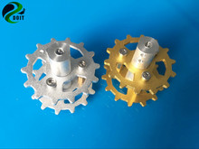 DOIT New Design TWS-03 Aluminum Alloy Metal Damping Driving Wheel for Toy Tank Track Caterpillar Car Chassis(China)