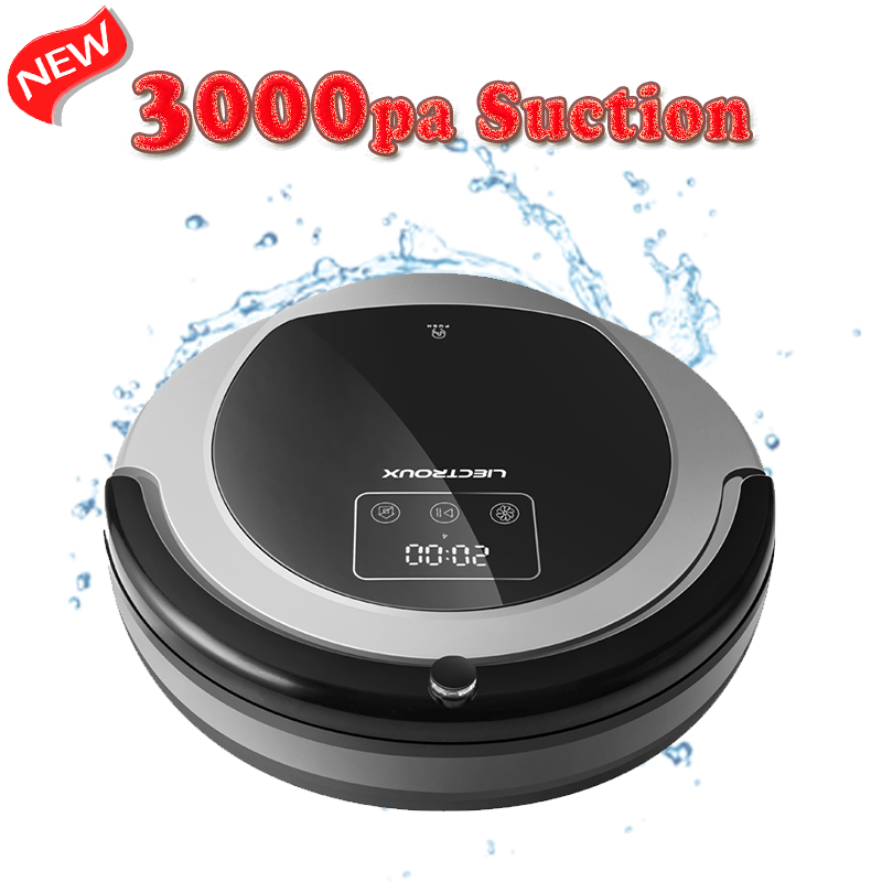 (FBA)LIECTROUX Robot Vacuum Cleaner B6009,Map Navigation,Smart Memory,Suction 3000pa,Dual UV Lamp, Wet Dry Mop,Robot aspirador(China)