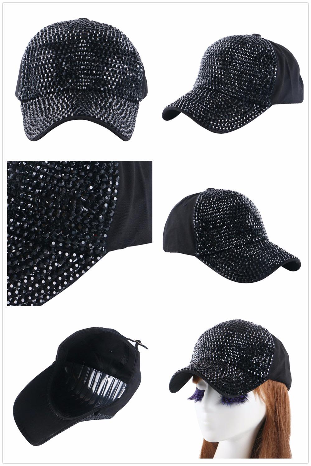High Quality WOMEN brand baseball cap new fashion rhinestone crystal denim snapback caps wholesale woman hip hop snapbacks hats 7