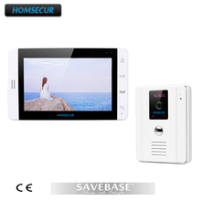 "HOMSECUR 7"" Video Door Phone Intercom System 700TVL Camera Touch Key Monitor White Color"