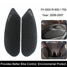 For Suzuki GSX-R GSXR600/750 2006 2007 Motorcycle Anti slip Tank Pad 3M Side Gas Knee Grip Traction Pads Protector Stickers(China)