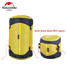 Brand Naturehike Outdoor Camping sleeping bag compression sack Pack Stuff Sack 20D Nylon Silicon Waterproof Storage Carry Bag
