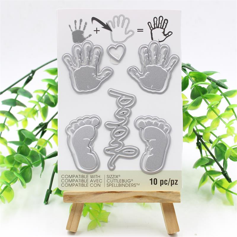 KSCRAFT Baby Hands Feet Metal Cutting Dies Stencils DIY Scrapbooking/photo album Decorative Embossing DIY Paper Cards