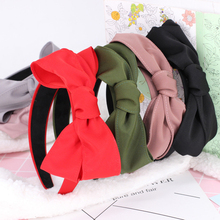 Headwear 3Pc Seconds Sale Knotted Tie Headbands for Women Black Wide Headband Hairband for Women Fashion Headband  for Girls