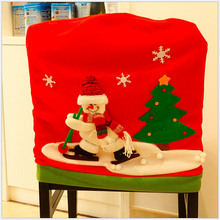 Merry Christmas Santa Red Hat Dining Chair Back Covers Party Xmas Table Decor UK(China)