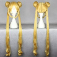 MCOSER Japanese Anime SAILOR MOON golden color Cosplay Wig Hair party wig