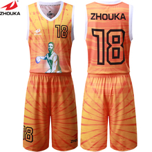 Sublimation Printing Custom Youth Adult Lady Basketball Uniform Add Your Pattern Name Number Freely