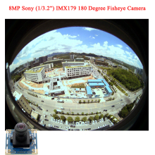 8MP 3264X2448 USB video surveillance cameras module  Mjpeg YuY2  180 degree fisheye lens 1/3.2'' Sony IMX179 CCTV camera board